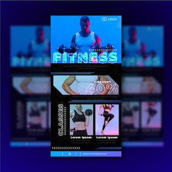 Fitness-e-mailsjabloon met foto's