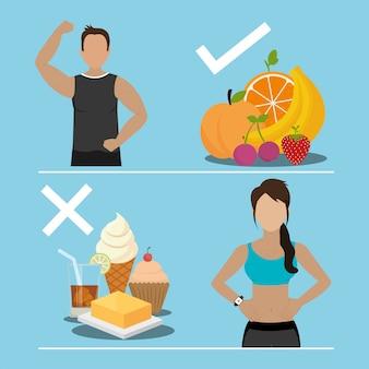 Fitness en gezond eten