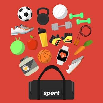 Fitness en gezonde levensstijl achtergrond