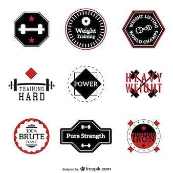Fitness en training labels vector collectie