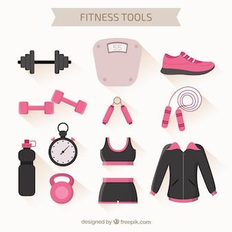 Fitness gereedschappen pak