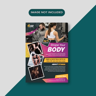 Fitness gradiënt flyer lay-out