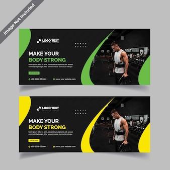 Fitness gym billboard-sjablonen