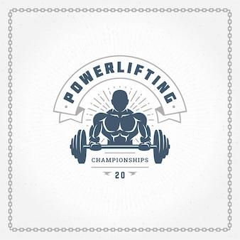 Fitness gym logo of embleem illustratie