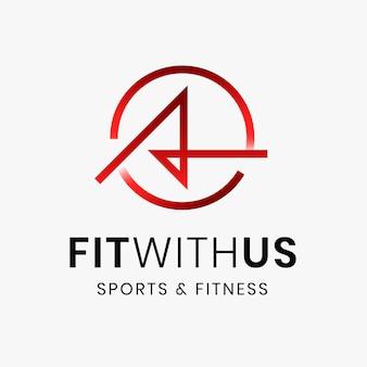 Fitness gym logo sjabloon, abstracte illustratie in verloop ontwerp vector