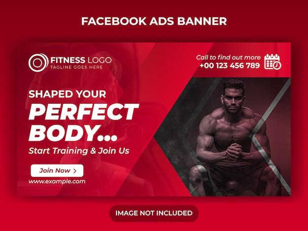 Fitness gym sociale media banner ontwerp