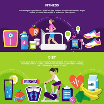 Fitness horizontale banners