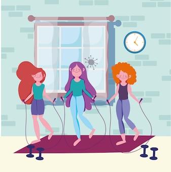 Fitness huis voor meisjes