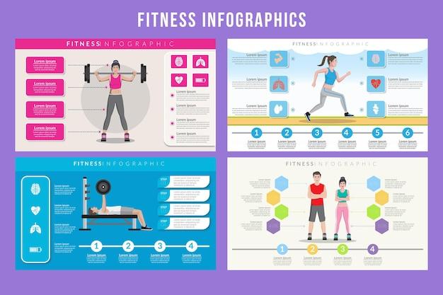 Fitness infographic ontwerp