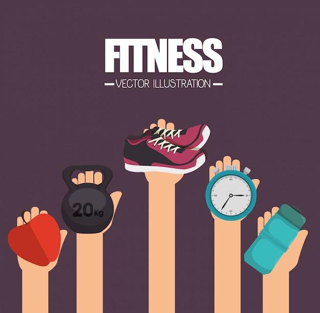 Fitness levensstijl ontwerp