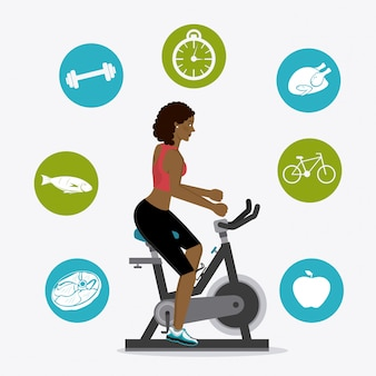 Fitness levensstijl ontwerp.