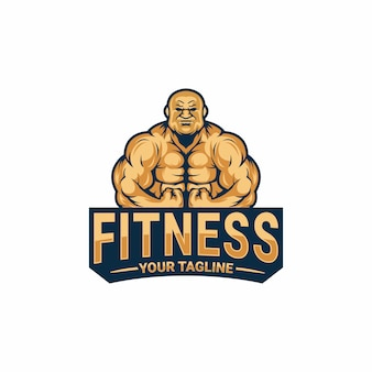 Fitness logo sjabloon