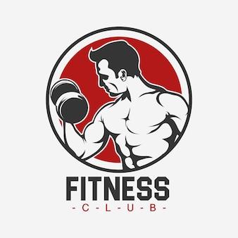 Fitness logo template ontwerp