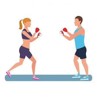 Fitness mensen trainen