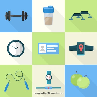 Fitness pictogrammen