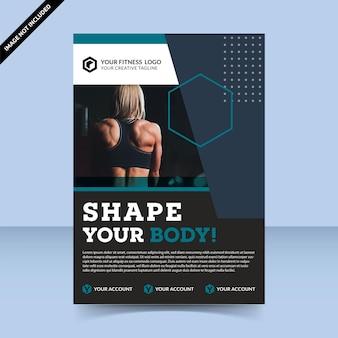 Fitness shape your body flyer sjabloonontwerp