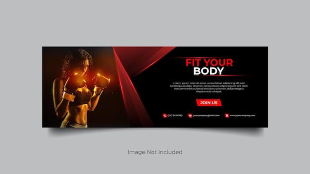 Fitness sociale media en instagram bannerontwerp