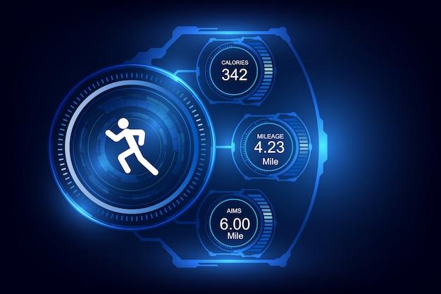 Fitness-tracker met draagbare technologie