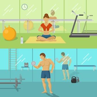 Fitness voor mannen en vrouwen composities
