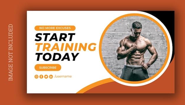 Fitness workout websjabloon voor spandoek