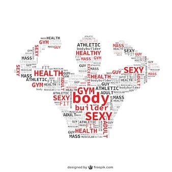 Fitnessclub typografie vector