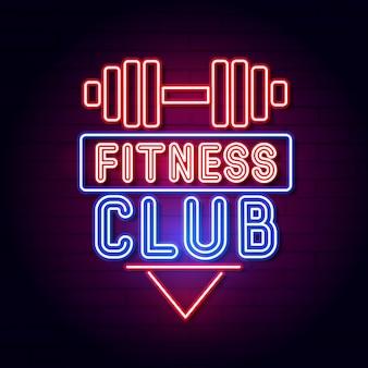Fitnessruimte gym kamer. led neon light sign display.