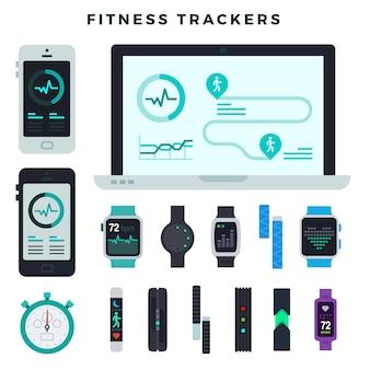 Fitnesstrackers van verschillende typen