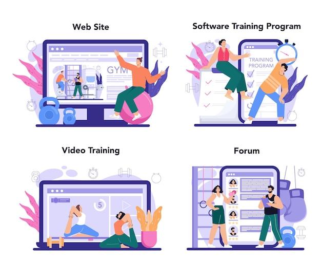 Fitnesstrainer online service of platformtraining in de sportschool