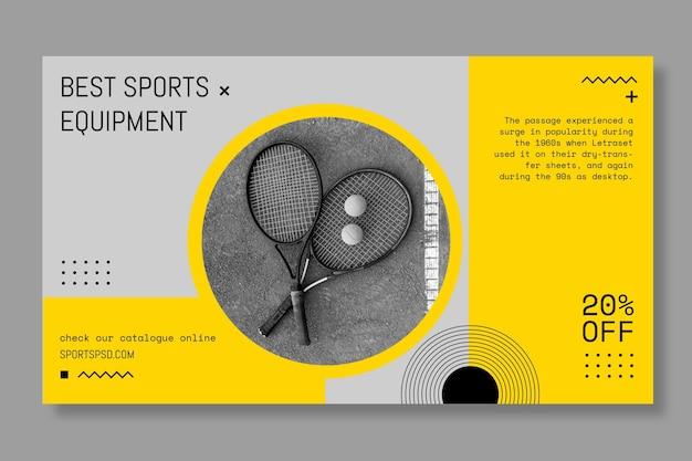 Fla lag tennis sport banner