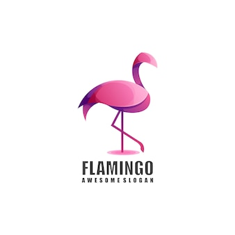 Flamingo logo kleurverloop
