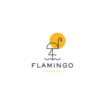 Flamingo logo pictogram