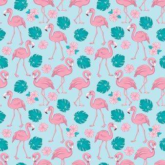 Flamingo naadloos patroon. vector achtergrond