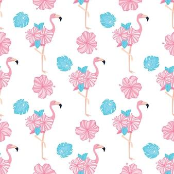 Flamingo naadloos patroon