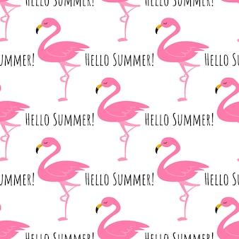 Flamingo naadloze patroon achtergrond.