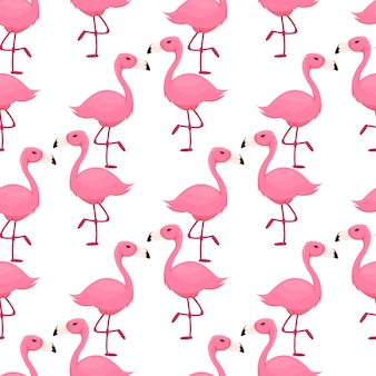 Flamingo naadloze patroon roze vogel