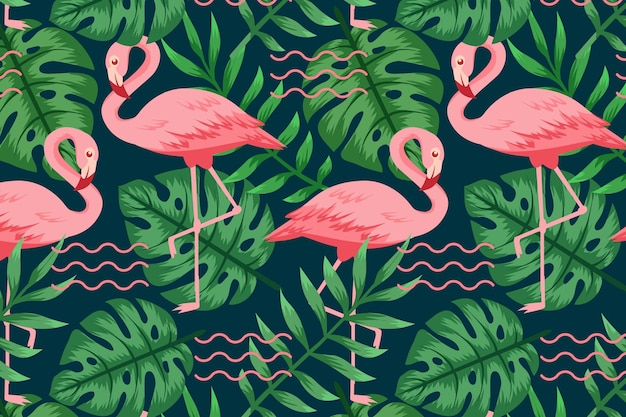 Flamingo patroon collectie concept