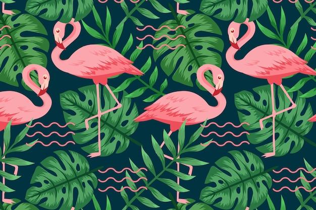 Flamingo patroon collectie concept