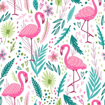 Flamingo patroon thema