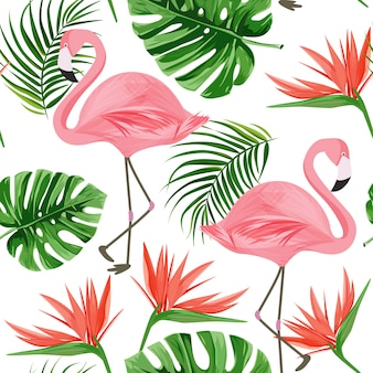 Flamingo patroon.