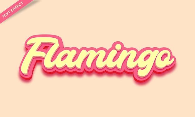 Flamingo roze teksteffect ontwerp