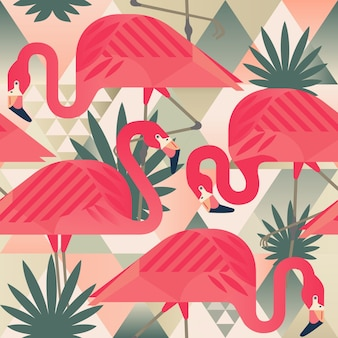 Flamingo trendy patroon.