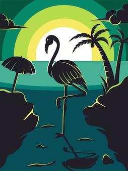 Flamingo zomer