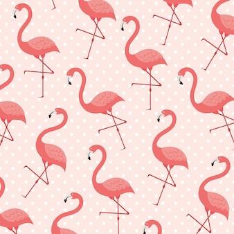 Flamingosamenstelling in levende koraalstijl