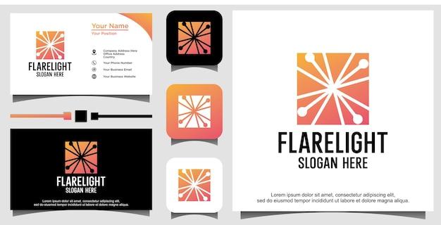 Flare licht logo ontwerp