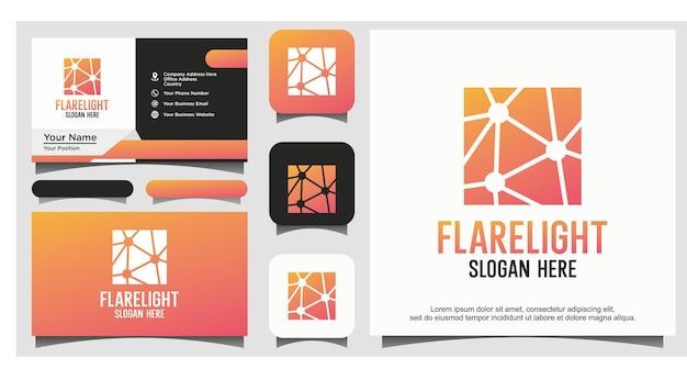 Flare licht logo vector