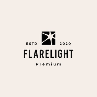 Flare lichte hipster vintage logo pictogram illustratie