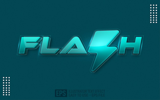 Flash 3d-tekst bewerkbare stijleffectsjabloon