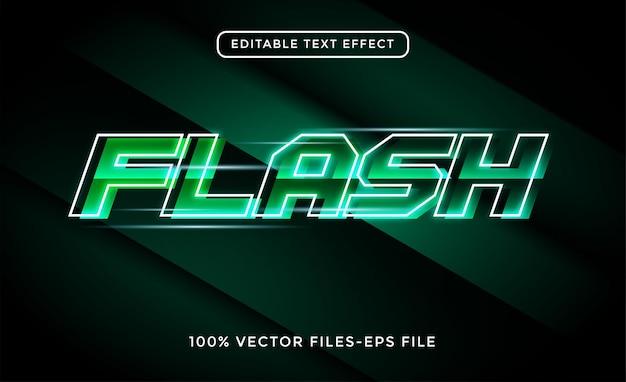 Flash 3d-tekst neoneffect premium vector
