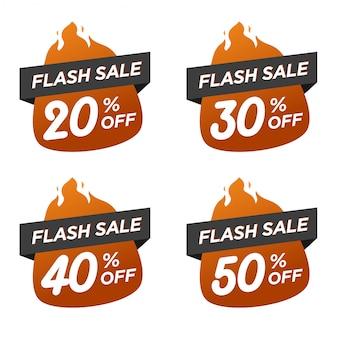 Flash banner kortingspakket met vlam