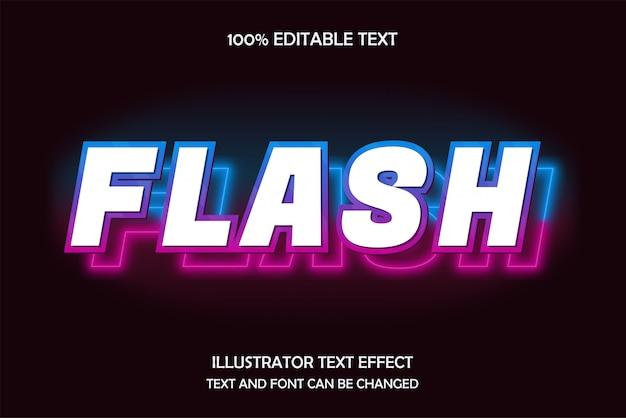 Flash, bewerkbaar teksteffect, blauw roze neonstijl